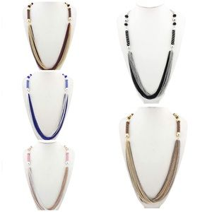 Jewelry - Multi-layer Two color chain statement necklace